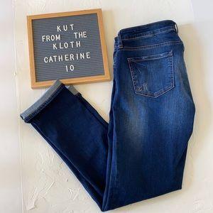 KUT Catherine Boyfriend Jeans. Size 10.